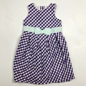 Janie and Jack Girls Purple Gingham Dress 3